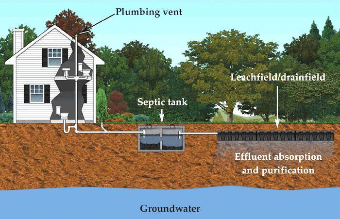 septic sewage field diagram